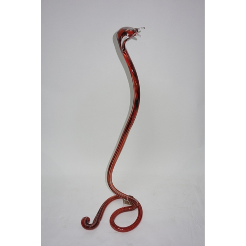 20 - A Murano glass cobra, H.95cm...
