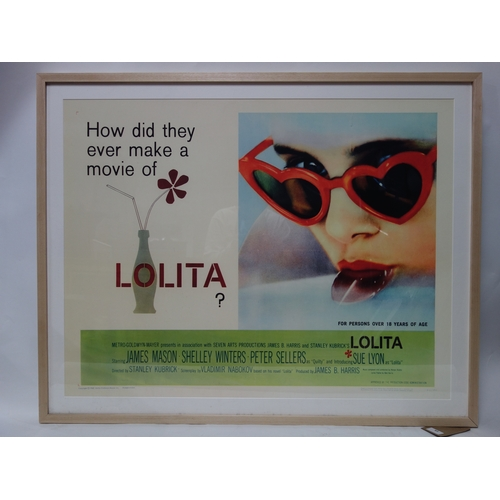 63 - A Lolita reproduction movie poster, with King & McGaw label to verso, 75 x 95cm...