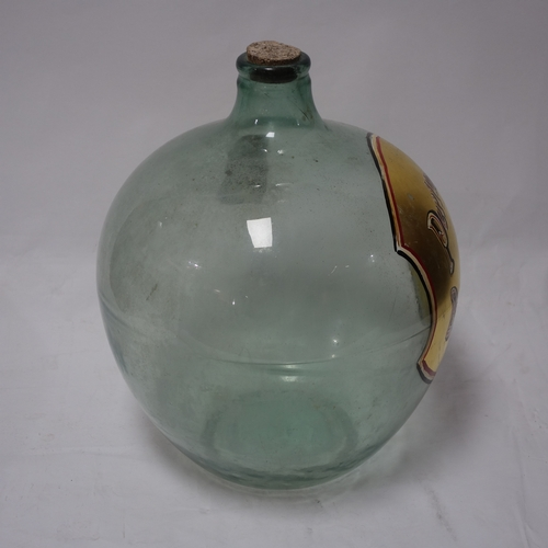 88 - A large antique glass perfumery & dispensary bottle, H.50cm...