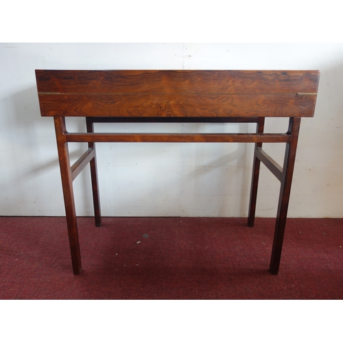 118 - A mid 20th century Willy Beck exotic hardwood folding desk, designed by Aksel Bender Madsen and Ejne...