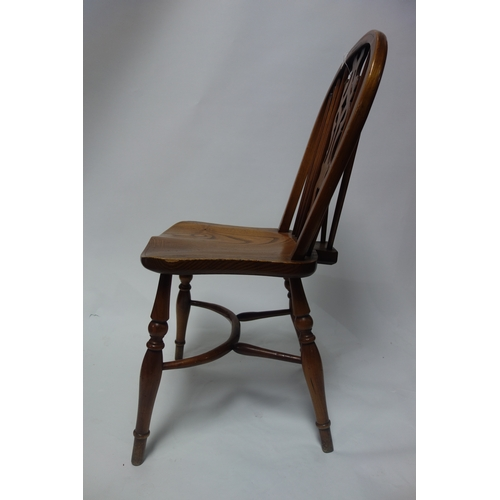 142 - A set of six cherry wood dining chairs...
