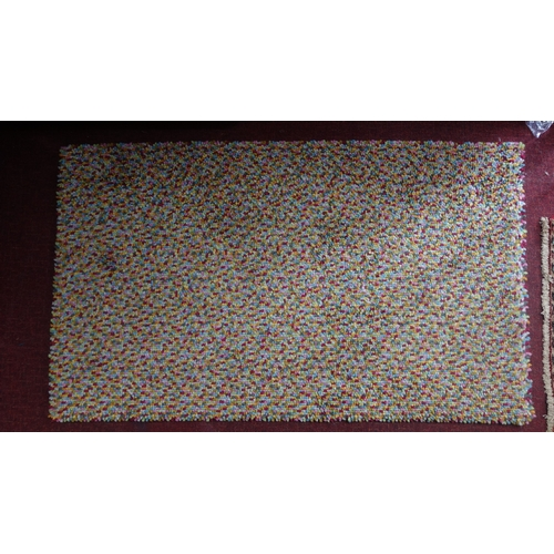 183 - A John Lewis rug with multi beans design, 136 x 80cm...