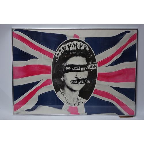 199 - A Jamie Reid sex pistols poster, 69 x 99cm...