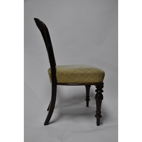 267 - A pair of Victorian mahogany dining chairs...