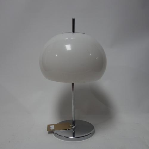 271 - A contemporary chrome table lamp...