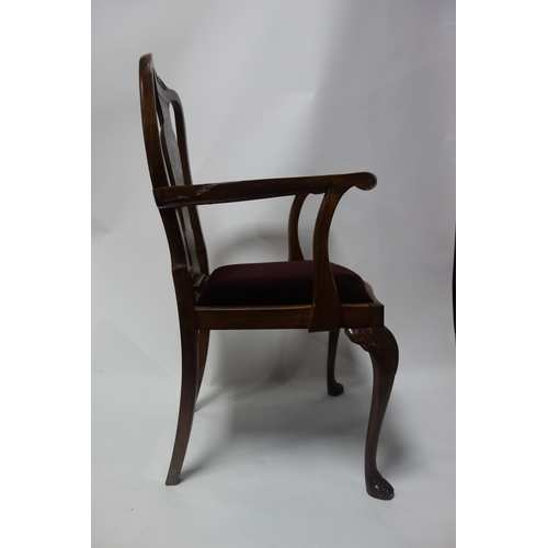 277 - A set of 7 early Georgian style burr walnut dining chairs....