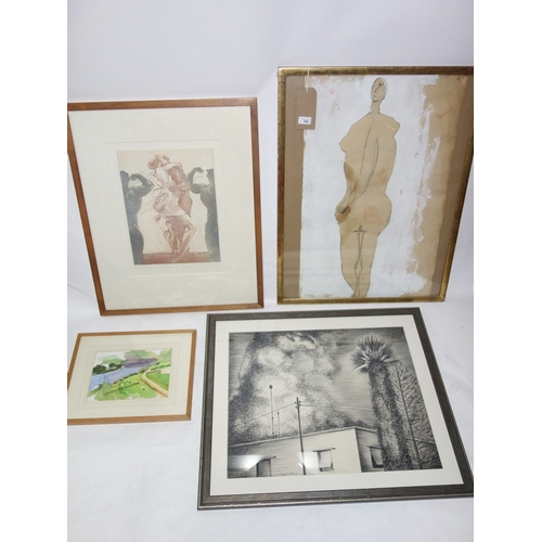 356 - Four various framed pictures...