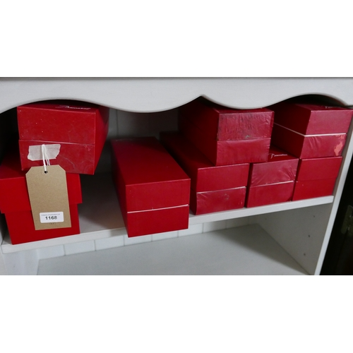 1168 - 8 Baccarat, plain wine glasses (Individually Boxed) H: 21.5cm, Engraved 'Baccarat' to each foot....