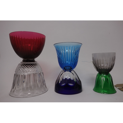 1 - Three St Louis crystal glasses/bowls from Les Endiables collection, to include Les Endiables Cerdagn...