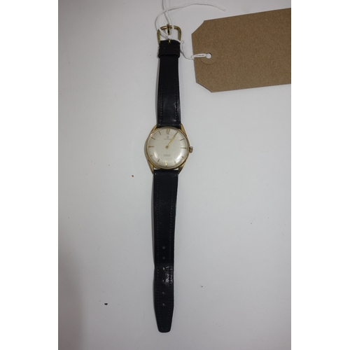 232 - A Services 1950's gentleman's wristwatch, the dial with baton markers, 17 jewel movement, associated...