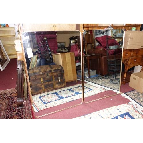 251 - A pair of contemporary rectangular gilt mirrors, H.180 W.120cm (2)...
