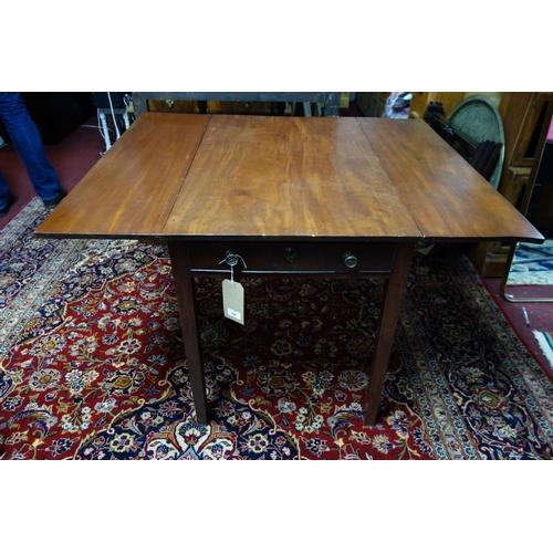 299 - A 19th century mahogany Pembroke table...