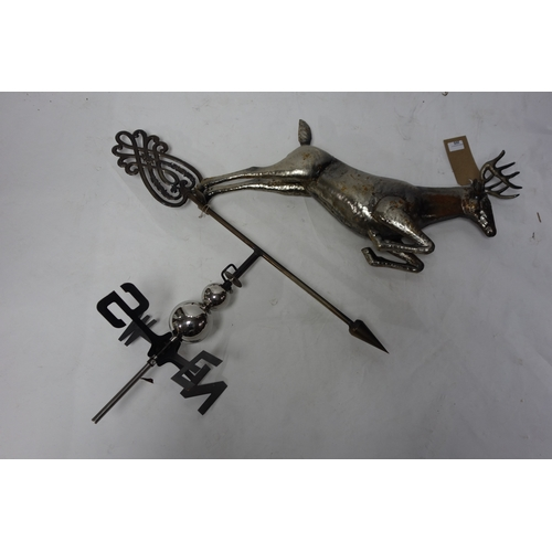 205 - A contemporary weather vane with stag finial, H.105cm...