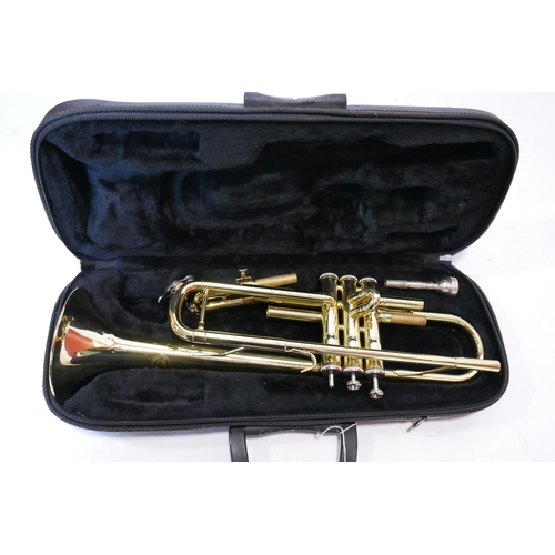 74 - A Juptier brass trumpet in carry case...