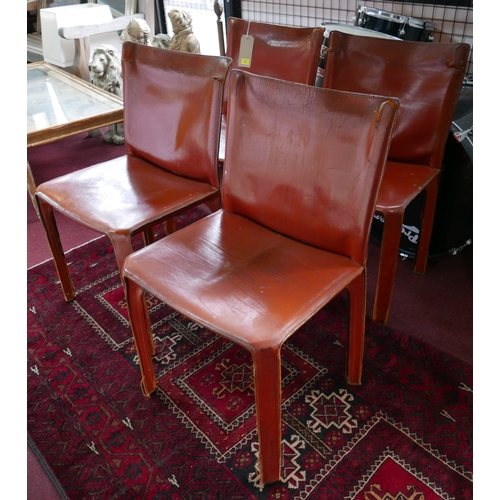 34 - A set of four Cassina 412 cab chairs...