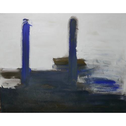 94 - Judy Gillard (Contemporary School), Power Station, abstract study, acrylic on canvas, 80 x 100cm...