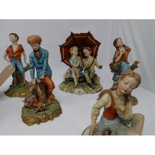 85 - WITHDRAWN- Eleven Capodimonte figures...
