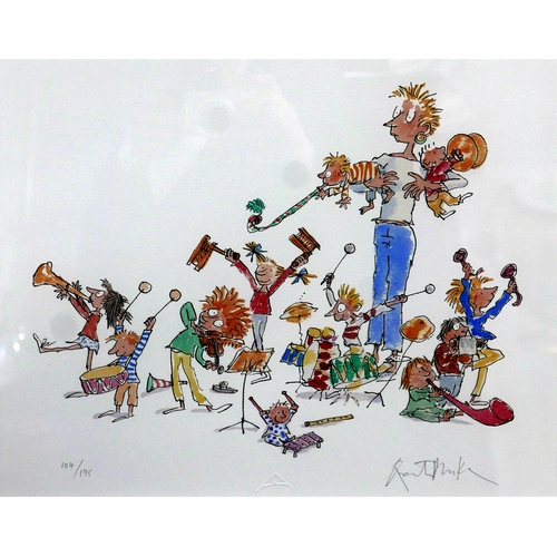 41 - Quentin Blake, 'They very best of all is when we ALL JOIN IN', giclee print, numbered 104/195, with ...