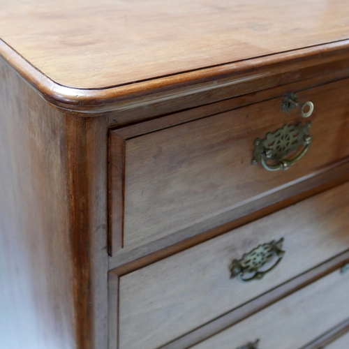220 - A Victorian mahogany chest, two short over three long drawers, H.108 W.110 D.52cm...