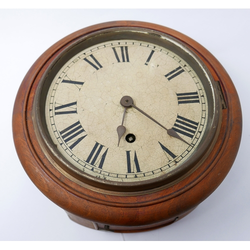 271 - A vintage wall clock with Roman numerals, D.26cm...