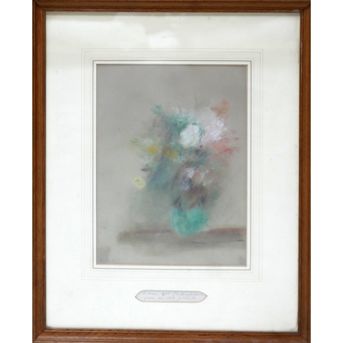 90 - A 19th century still life watercolour study, with details of artist to verso, 33 x 25cm...