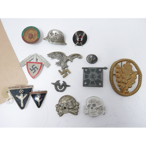 18 - A collection of Third Reich pin badges and buttons, to include two NS Frauenschaft (Women's League) ...
