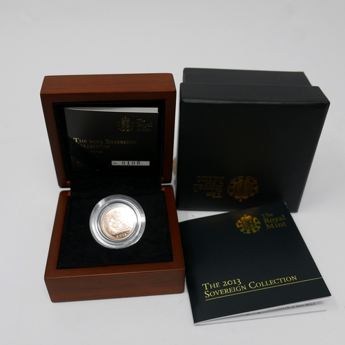 4 - A Royal Mint 2013 gold half sovereign in original box...
