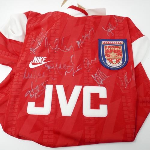 116 - A 1990's signed Arsenal football shirt...