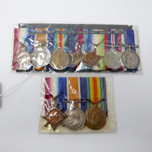209 - Two groups of WWII medals...