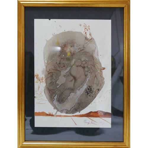 221 - After Salvador Dali, lithograph titled 'Faciamus Hominem', 49 x 35cm...