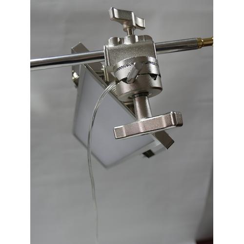 228 - A chrome adjustable angle poise standard lamp...
