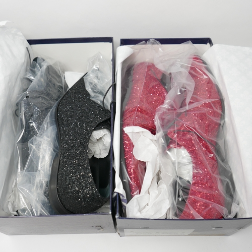 92 - Two pairs of Patrick Cox glitter shoes, in boxes like new...