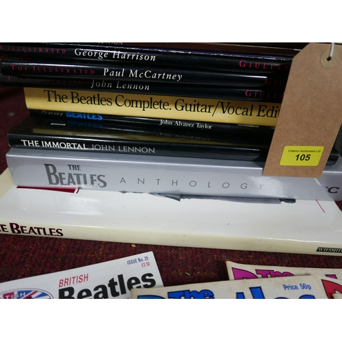 105 - A collection of various Beatles books and magazines...