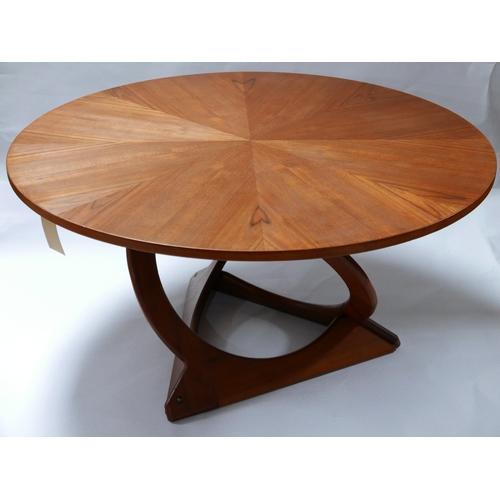 146 - A Danish coffee table with sunburst design, by Georg Jenson for Kubus, Diameter 122cm...
