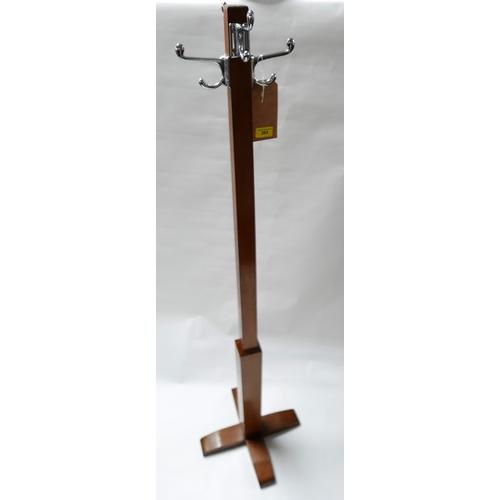 283 - An Art Deco walnut coat stand, H.154cm...