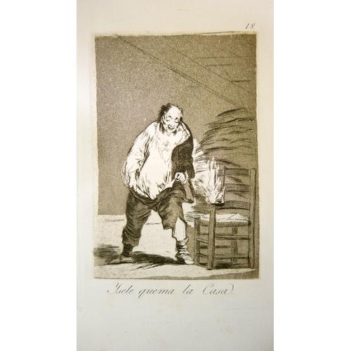 16 - Francisco Goya (1746-1828), Los Caprichos No.18, 'Y se le Quema La Casa', etching and aquatint, 21 x...