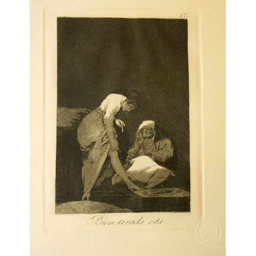 27 - Francisco Goya (1746-1828), Los Caprichos No.17, 'Bien Tirada Esta', etching and aquatint, with Prad...