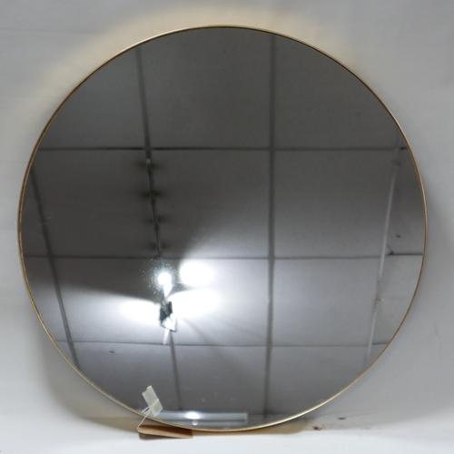 297 - A large contemporary circular gilt mirror, Diameter 91cm...