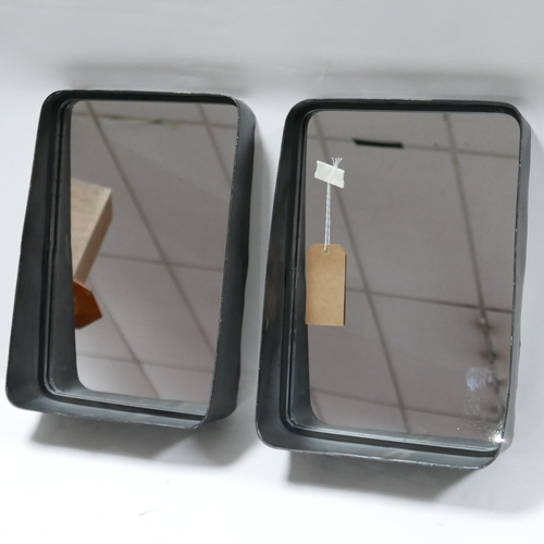 233 - Two Industrial style mirrors, 50 x 36cm (2)...