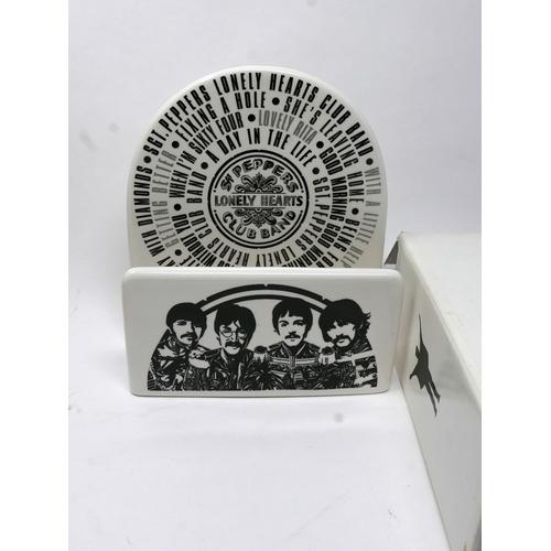 95 - A Beatles Coalport porcelain letter rack, with Sgt Pepper design, in original box...
