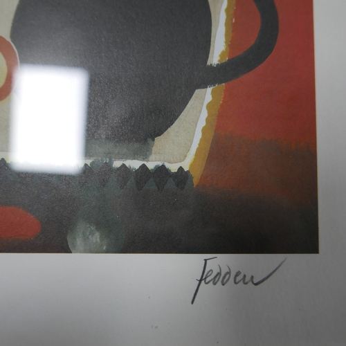 150 - Mary Fedden OBE (British, 1915-2012), 'The Orange Mug', signed in pencil to lower right, numbered 99...