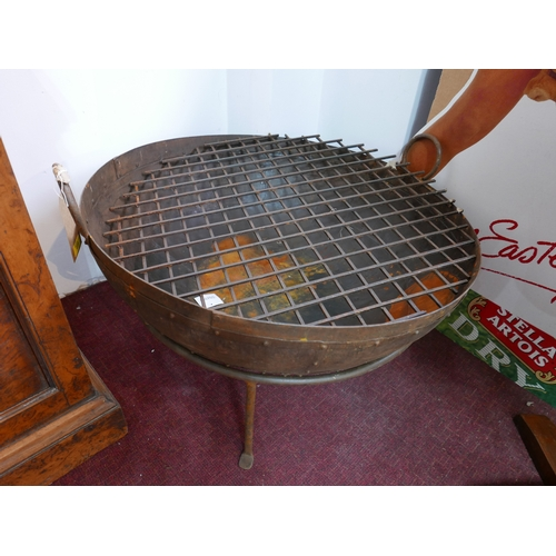 231 - A Kadai style fire pit, with fire grate, H.53cm Diameter 83cm...