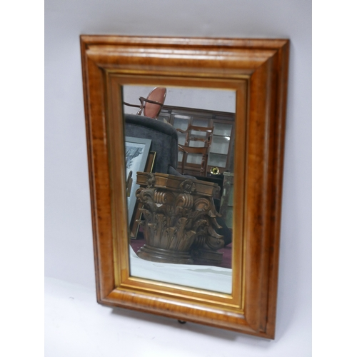 244 - A Maple framed mirror, 69 x 48cm...