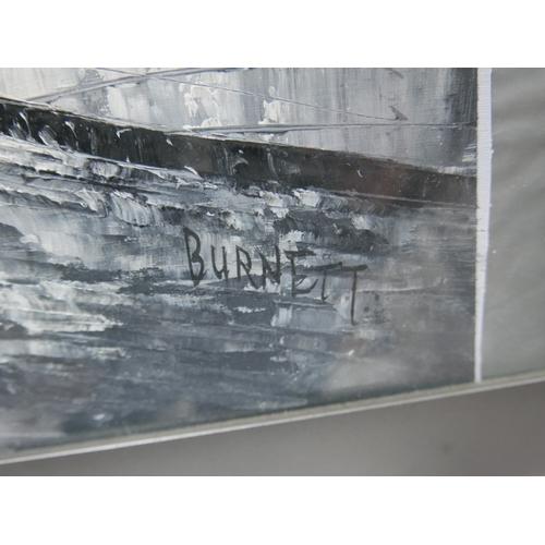 309 - Burnett, Paris Street Scene', oil on paper, signed lower right, 49 x 64cm...