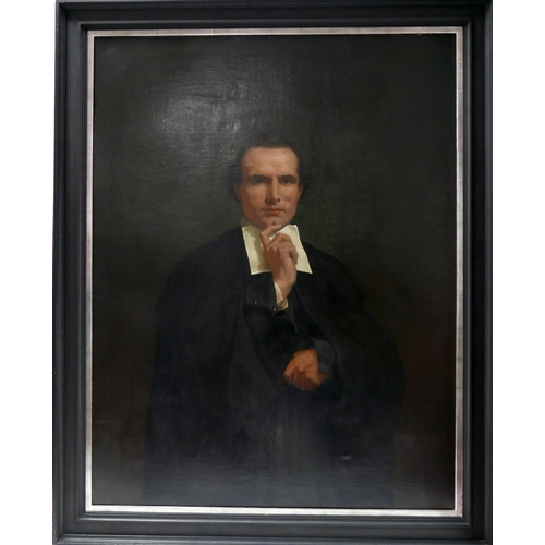 317 - F. Athanuse (19th century school), Portrait of a Lawyer, signed and dated 1866 to lower right, 130 x...