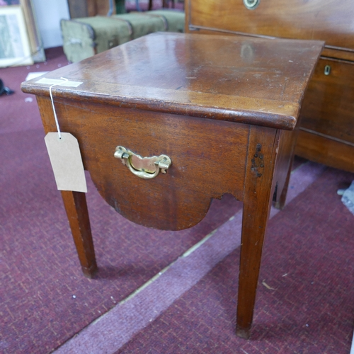 360 - A Georgian mahogany bedside commode, converted to storage...