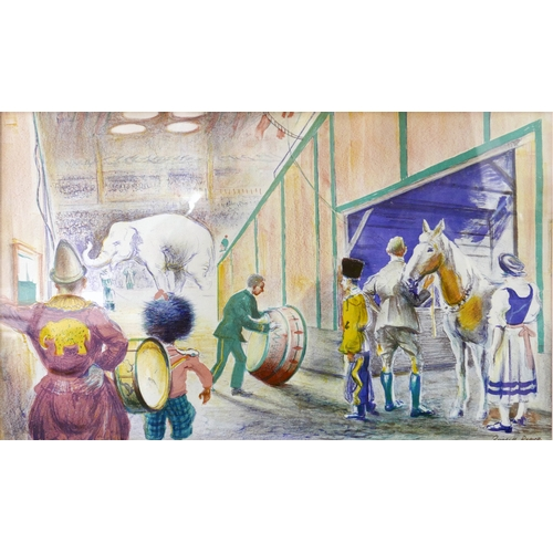 101 - Russell Reeve (British, 1895-1970), 'Circus Scene', lithograph, c.1940, signed in the plate, 40 x 66...