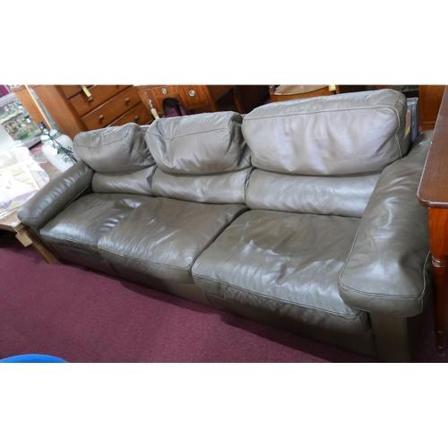 294 - A Poltrona Frau brown leather sofa...