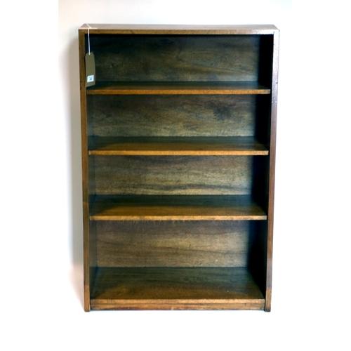 333 - An Art Deco mahogany open bookcase, H.106 W.71 D.29cm...