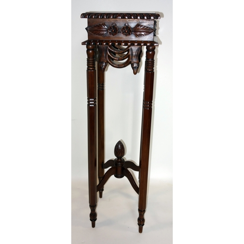 365 - A Regency style mahogany jardiniere stand, H.106cm...